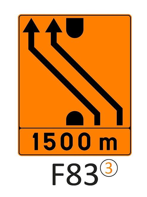 Verkeersbord F83 - klasse 3 fluo
