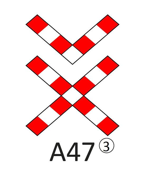Verkeersbord A47 - klasse 3