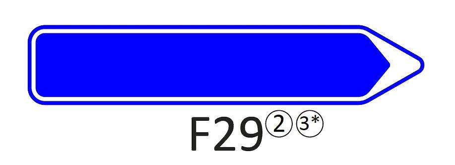 Verkeersbord F29 - klasse 2