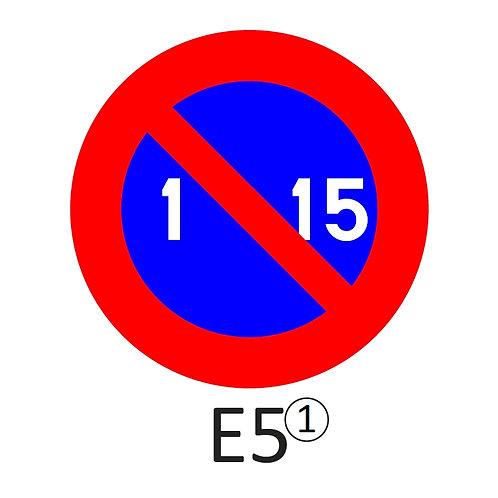 Verkeersbord E5 - klasse 1