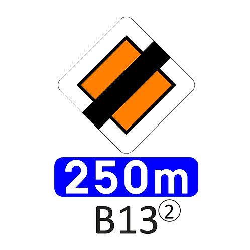 Verkeersbord B13 - klasse 2