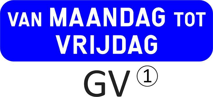 Onderbord GV - klasse1