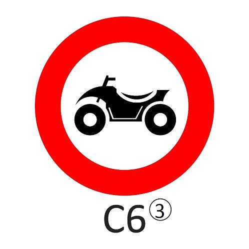 Verkeersbord C6 - klasse 3