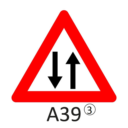 Verkeersbord A39 - klasse 3