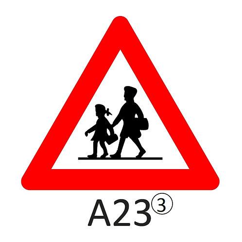 Verkeersbord A23 - klasse 3