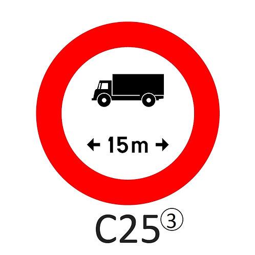 Verkeersbord C25 - klasse 3