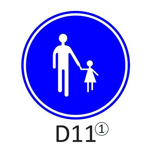 Verkeersbord D11 - klasse 2