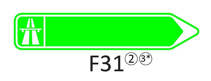 Verkeersbord F31 - klasse 2