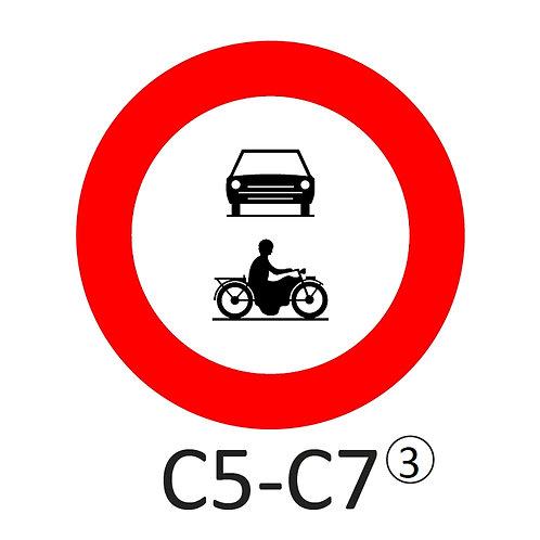 Verkeersbord C5-C7 - klasse 3
