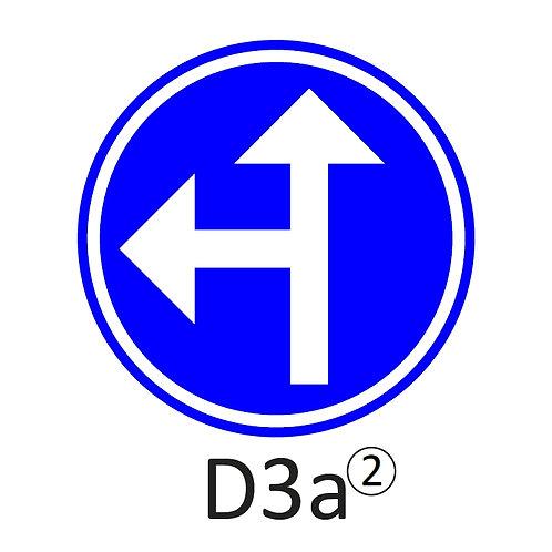 Verkeersbord D3 a, b - klasse 2