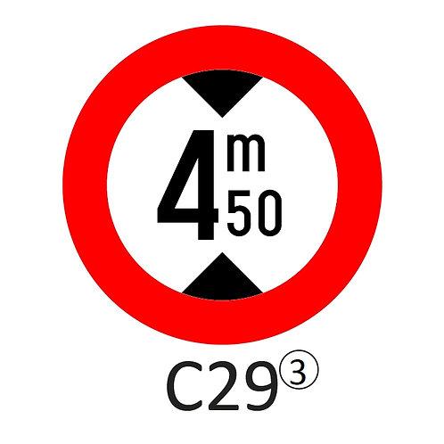Verkeersbord C29 - klasse 3