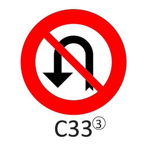 Verkeersbord C33 - klasse 3