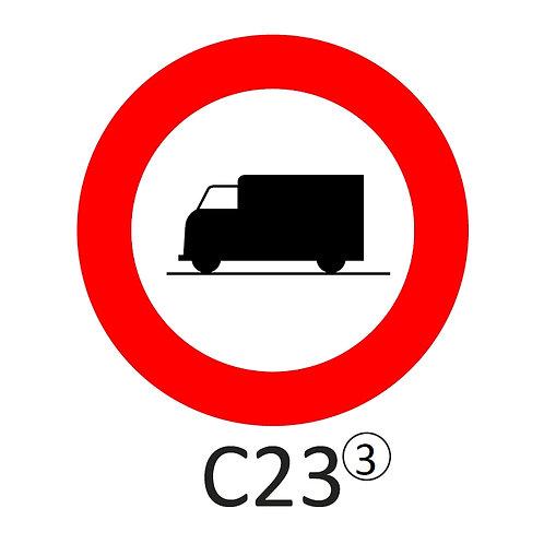 Verkeersbord C23 - klasse 3