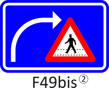 Verkeersbord F49bis - klasse 2