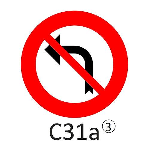 Verkeersbord C31 a, b - klasse 3