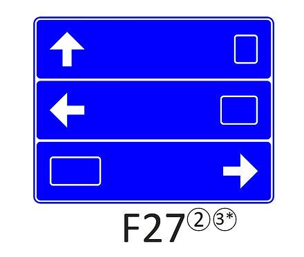 Verkeersbord F27 - klasse 2