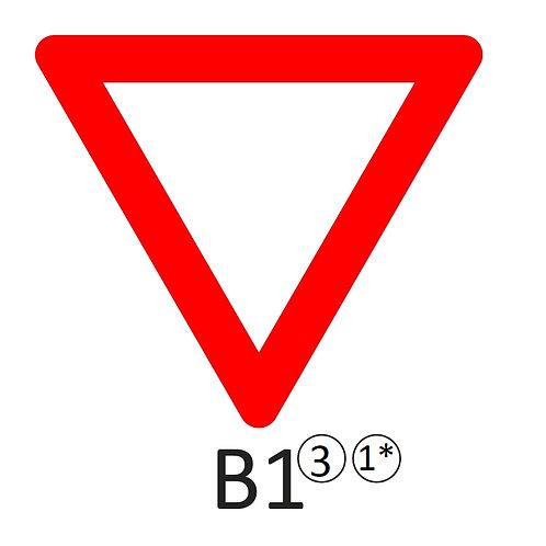 Verkeersbord B1 - klasse 3