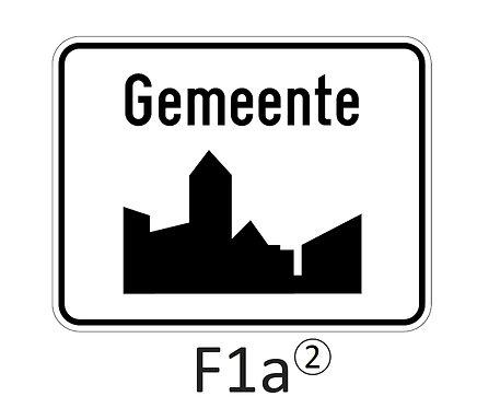 Verkeersbord F1 a, b - klasse 2