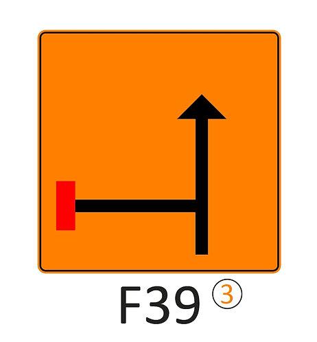 Verkeersbord F39 - klasse 3 fluo
