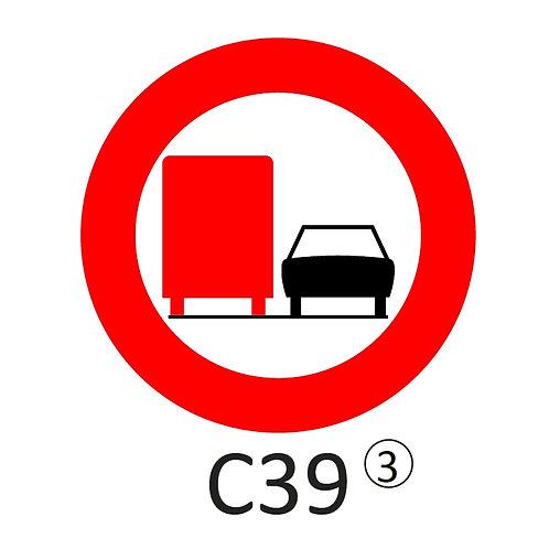 Verkeersbord C39 - klasse 3