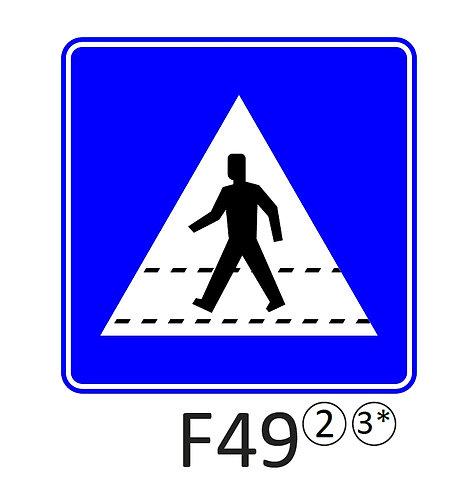 Verkeersbord F49 - klasse 2