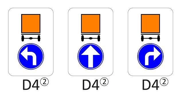 Verkeersbord D4 - klasse 2