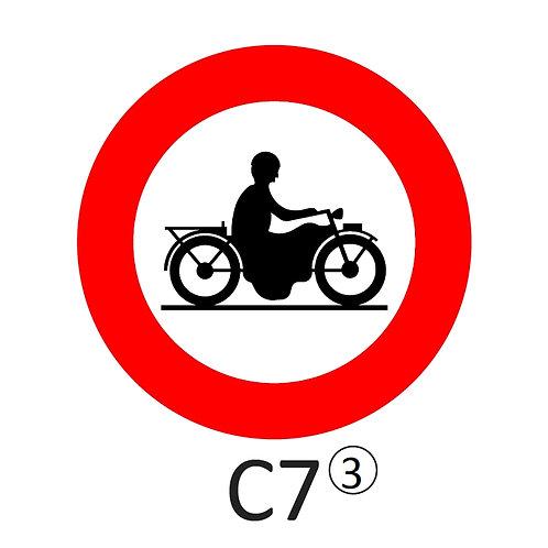 Verkeersbord C7 - klasse 3