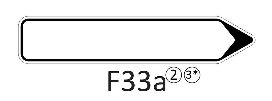 Verkeersbord F33 a, b, c - klasse 2