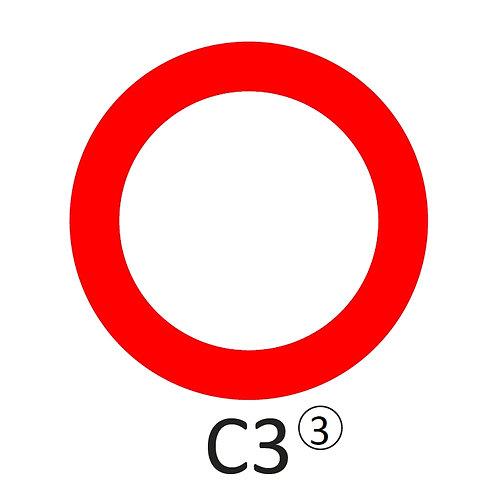 Verkeersbord C3 - klasse 3