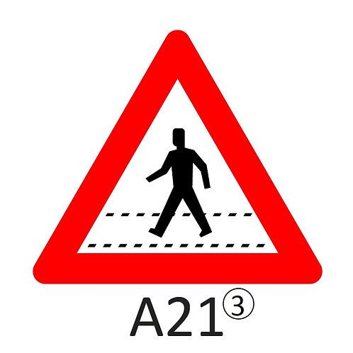 Verkeersbord A21 - klasse 3