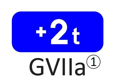 Onderbord GVII a, b, c, d - klasse 1, 2 of 3