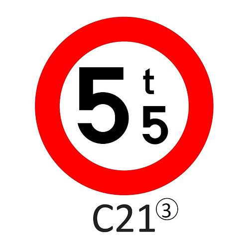 Verkeersbord C21 - klasse 3