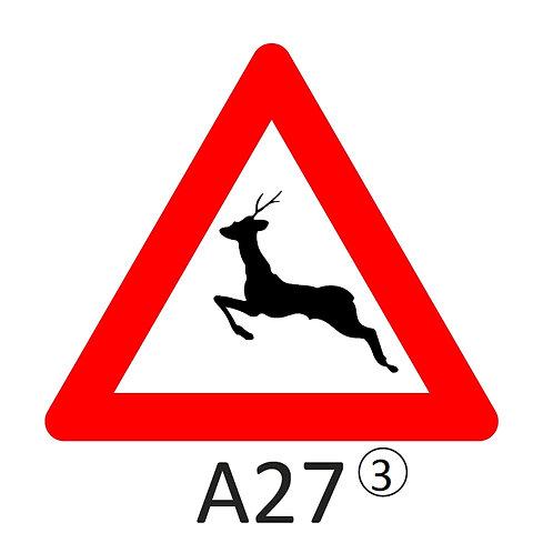 Verkeersbord A27 - klasse 3