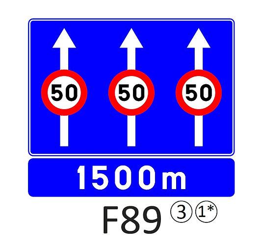 Verkeersbord F89 - klasse 3