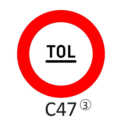 Verkeersbord C47 - klasse 3