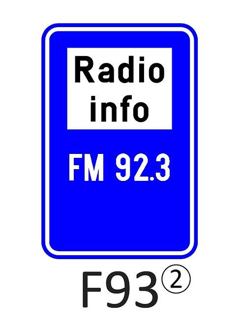 Verkeersbord F93 - klasse 2