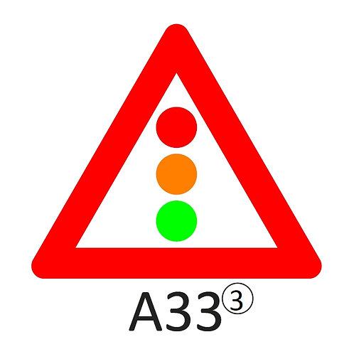 Verkeersbord A33 - klasse 3