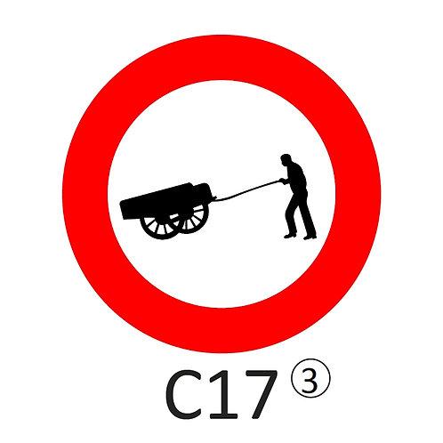 Verkeersbord C17 - klasse 3