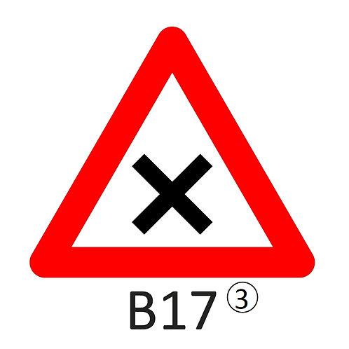 Verkeersbord B17 - klasse 3