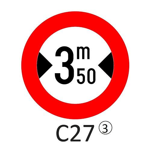 Verkeersbord C27 - klasse 3