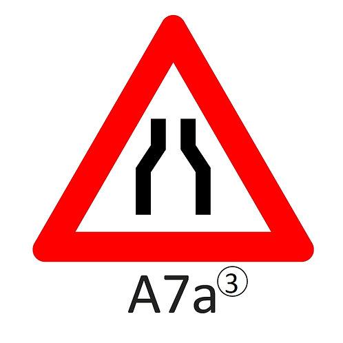 Verkeersbord A7 a, b en c - klasse 3