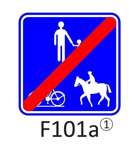 Verkeersbord F101 a, b, c - klasse 1