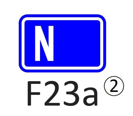 Verkeersbord F23 a, b, c, d - klasse 2