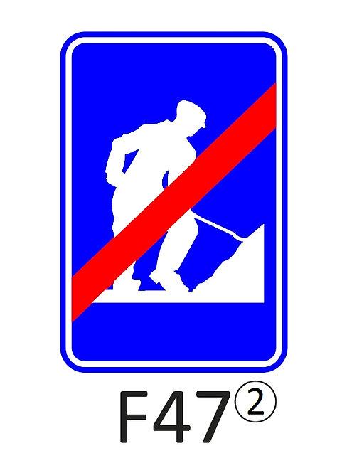 Verkeersbord F47 - klasse 2