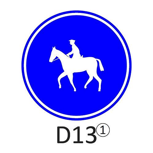 Verkeersbord D13 - klasse 2
