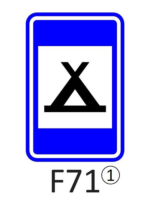 Verkeersbord F71 - klasse 1