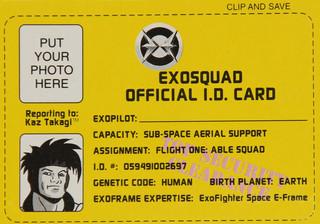 Exo Squad Space Series Kaz Takagi