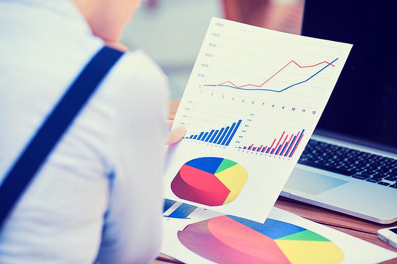 budget, proposal, man, paper, laptop, graph