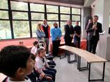 Inauguration de la bibliothèque du lycée avec la visite de l'ambassadeur de France