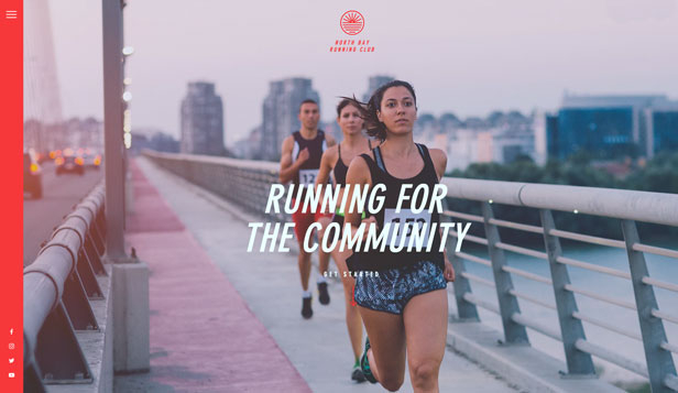 Sport & Recreation website templates – Running Group